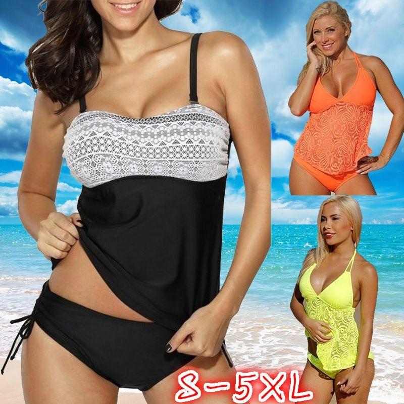 1c2e9250a9853 2019 Printed Swimsuits Women Sexy Beachwear Two Pieces Tankini Swimwear Swim  Wear Bathing Suits From Christinaaa