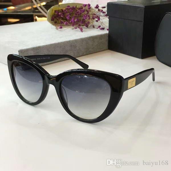 e120b344ab Compre Gafas De Sol De Diseñador Cat Eye Acetate Negro Oro / Gris Gafas De  Sol De La Marca 2018 Fashion Nuevo Con Caja A $58.38 Del Baiyu168 |  DHgate.Com