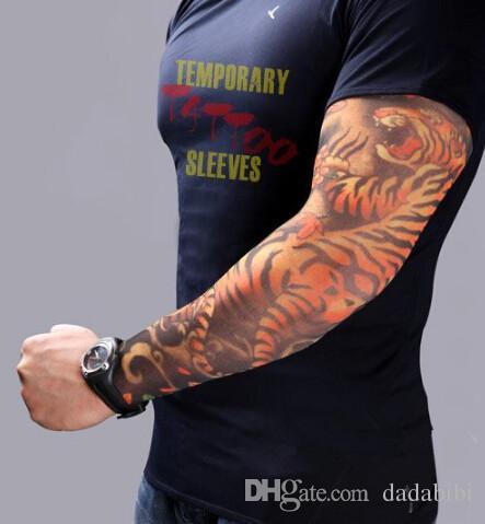 NOUVELLE ARRIVÉE-mélange élastique Faux temporaire manchon de tatouage 3D dessins d'art corps bras jambe bas tatouage cool hommes-femmes Livraison gratuite