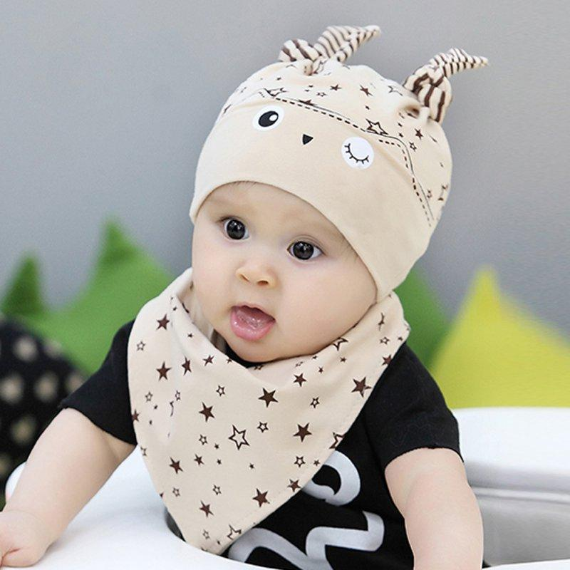 6f27b41a03c9 2019 Kids Toddler Child Baby Boys Girls Sleep Hat Cap+Saliva Towel ...