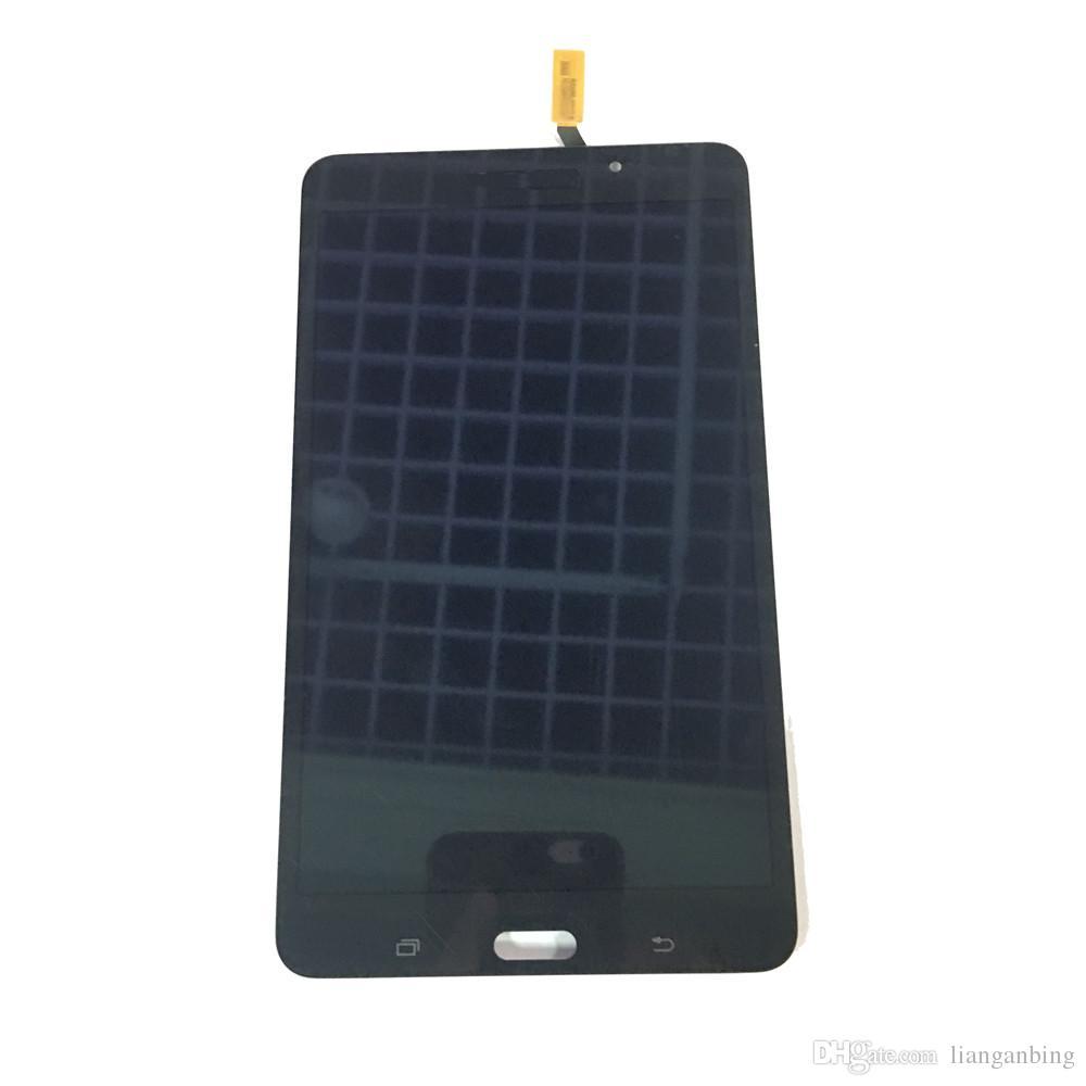 NUEVO Pantalla LCD Digitalizador de Pantalla Táctil Para Samsung Galaxy Tab 4 7.0 T230 Wi-Fi Negro Blanco Con Vidrio Templado DHL logística