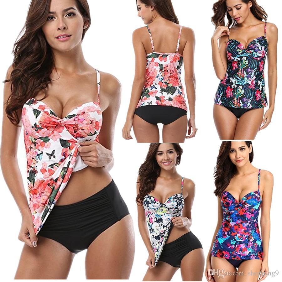 61d79be65f522 2019 Hot Sexy Women S Swimwear Swimdress Bikini Tankini Top And Shorts  Fashion Swimsuit Bathing Suit Beachwear Plus Size S 5XL T41 From Shopping9