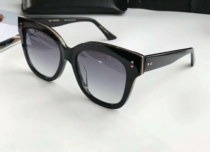 cddf02ff85 Day Tripper Black Gold Sunglasses Dark Grey Gradient Lens Gafas De Sol  Women Luxury Designer Sunglasses Glasses Shades New Designer Eyeglasses  Womens ...