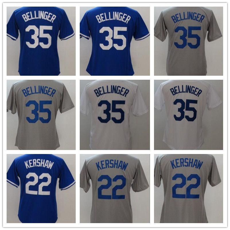 timeless design bb957 c610f 2018 Wholesale Women Youth Jerseys 22 Clayton Kershaw 35 Cody Bellinger  Blue Grey White Cool Base Baseball Jerseys High Quality Cheap