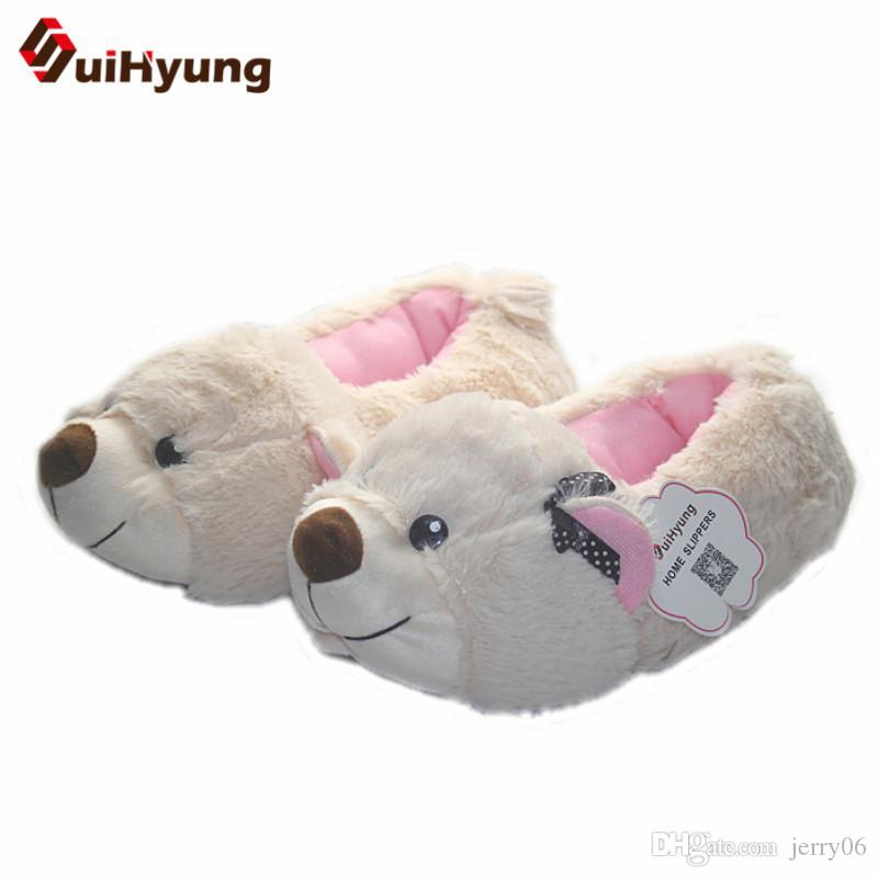 f54bf196775 Women Thermal Winter Indoor Cotton Shoes At Home Slippers Cute Plush Soft  Floor Shoes Female Male Warm Slippers Womens Trainers Kids Boots From  Jerry06