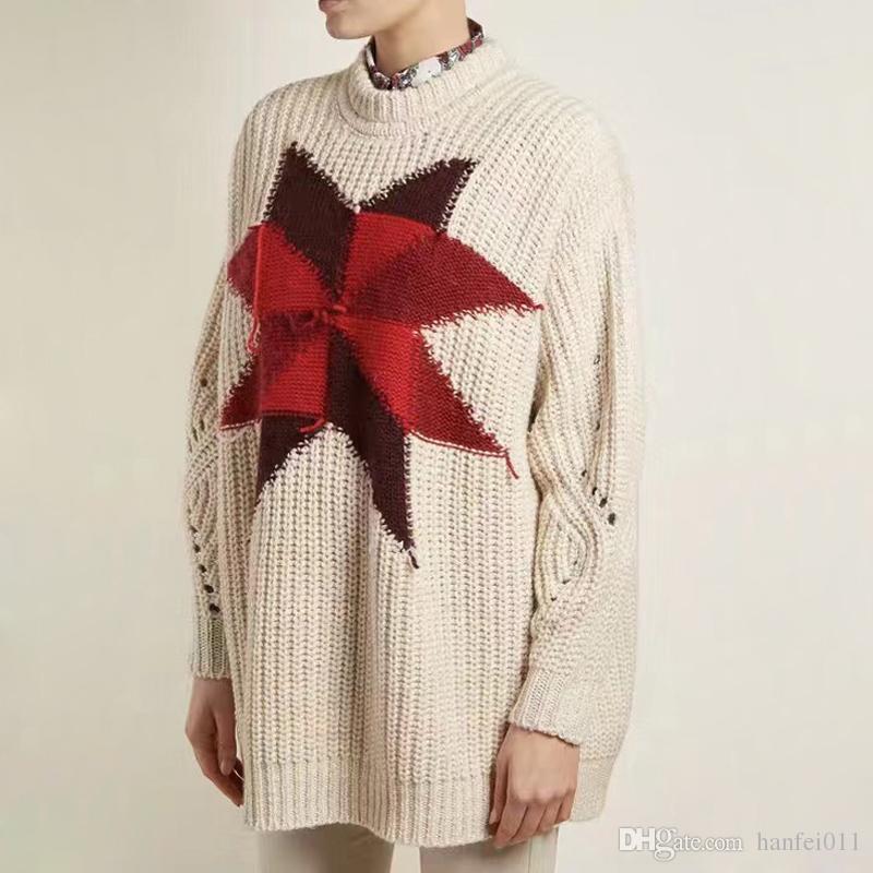 05d0609f9e66 18FW Isabel Marant Sweaters Female Women Sweater Casual Luxury Logo ...