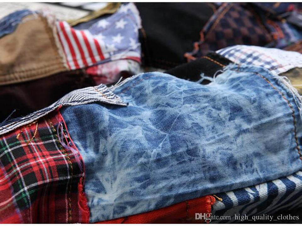 Man han edition of the new fashion in Europe and America affixed cloth foot beggar personality, cultivate one's morality pants / 2XS - 4 xl
