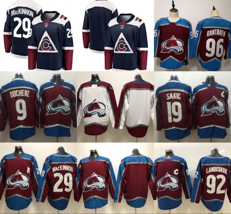 new concept 6c86f 12c7d 2018 Colorado Avalanche Hockey Jerseys 92 Gabriel Landeskog 29 Nathan  MacKinnon 19 Joe Sakic 9 Matt Duchene 96 Mikko Rantanen Jersey