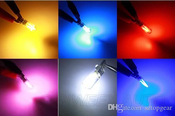 T10 W5W Silicone Case 2 COB Car LED Filament Interior Bulbs Reading Clearance Light Turn Signal Lamp 12V DC