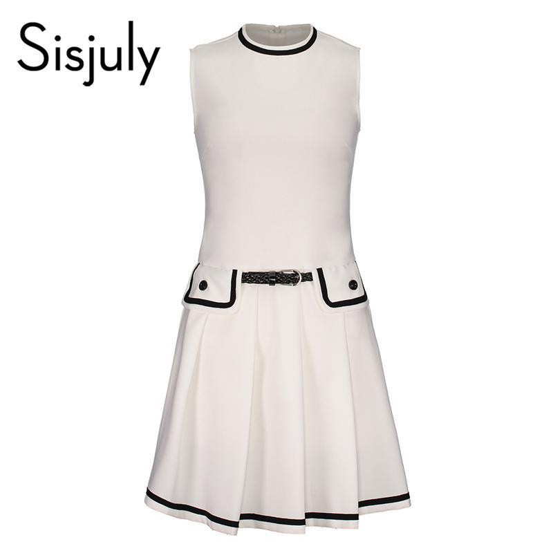 766f715a256cc Wholesale Women White Party Dress Elegant O Neck Sleeveless With Pocket  Retro Tank Summer Dresses Women Vintage Ol Office Dress Plus Size Party  Dresses ...