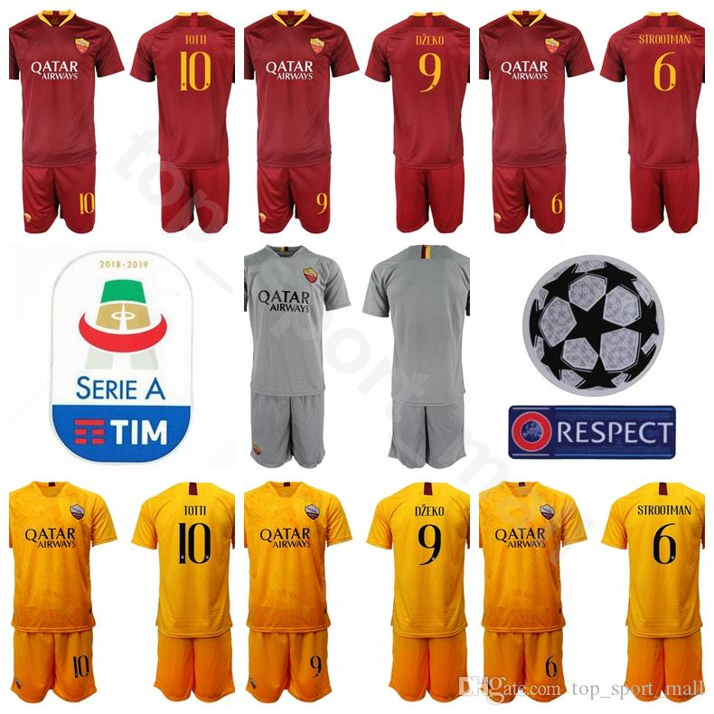 7a6f9d18f 2019 FC AS Roma 10 Francesco Totti Jersey Men Soccer 9 Edin Dzeko 16  Daniele De Rossi Football Shirt Kits Custom Name Number From  Top sport mall
