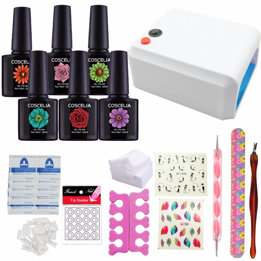 Soak Off Nail Gel Polish Kit 36w Nail Dryers Lamp For Nail Manicure ...