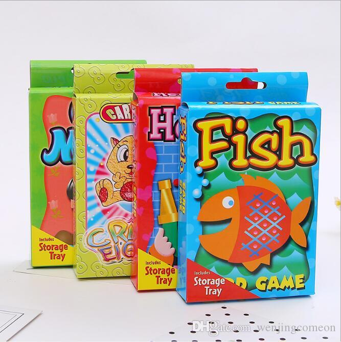 Kids Trading Card Games Game cards Funny Solitaire Characters Professional fish Animals cognitive cards Kids educational toys Gifts