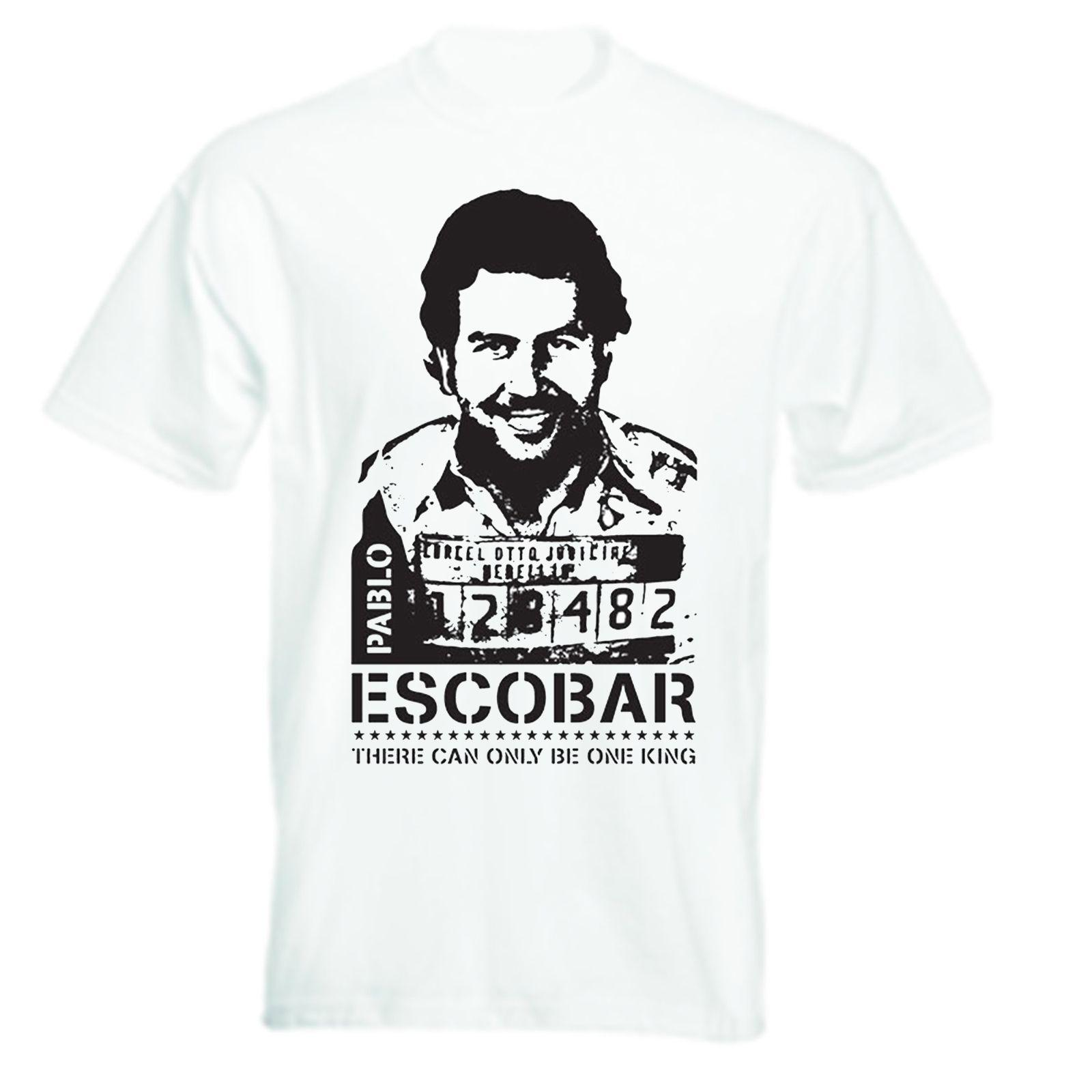 8b1d773a7 Pablo Escobar Iconic Mugshot Photo T Shirt Narcos Cool Funny T Shirt Men  High Quality Tees Western Style Kawaii Great Tee Shirt Designs Funny Screen  Tees ...