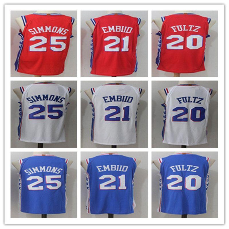 59e4846d246 ... new style 2018 new mens player 21 joel embiid jerseys 20 markelle basketball  jersey 25 ben