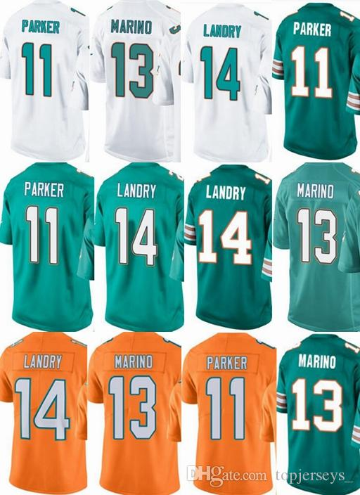 73f50930d5f ... spain 2018 miami dolphins custom men youth women 11 devante parker 13  dan marino 14 jarvis