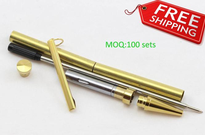DIY Gold slimline pen kits with free shipping by express RZ-BP5#G-Free  Freight