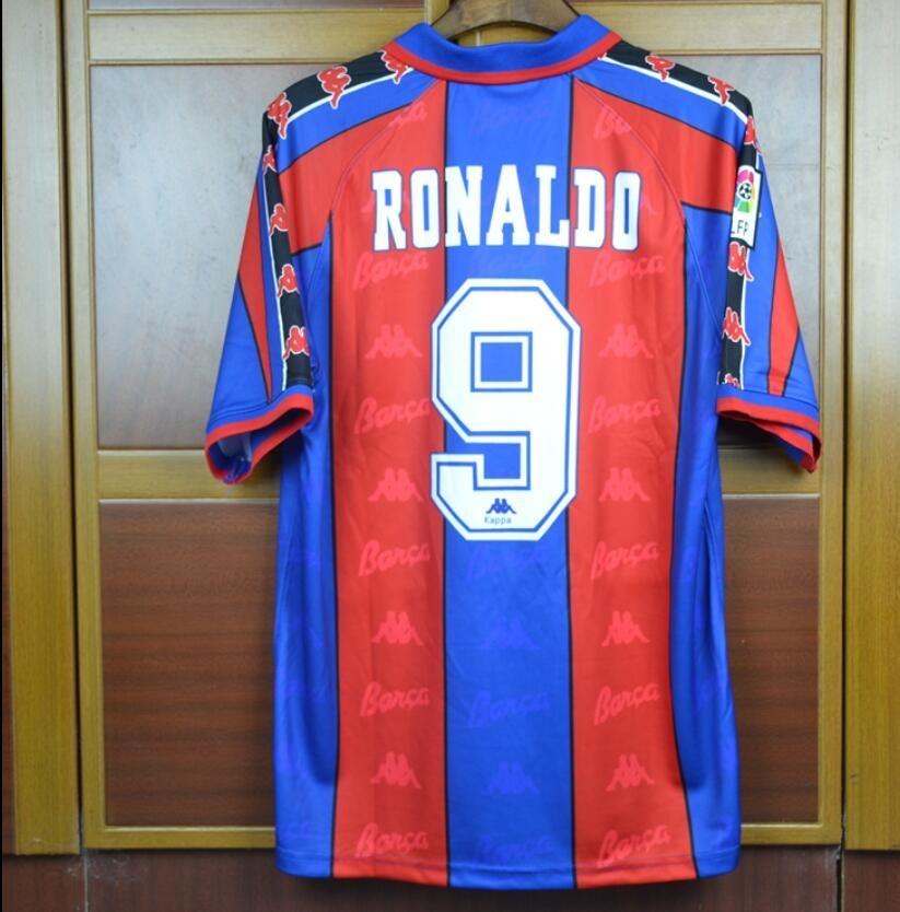 2d08769db41 2019 Thai Quality Barcelonad 96 97 Home Away Blue Retro Soccer Jersey Spain  RONALDO Football Shirts 1996 1997 From Soccerfans999