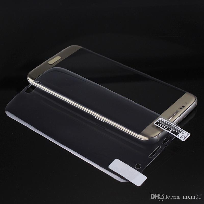 Cobertura completa curvo protetor de tela 3d pet macio filme sem vidro para iphone xs xs max x 8 7 6 samsung s6 s7 s8 s9 borda mais s10e s10e nota 9