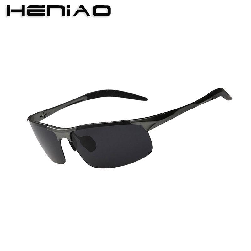 6e9f44a70c HENIAO Polarized Men Sunglasses Sports Oversized Square Driver ...