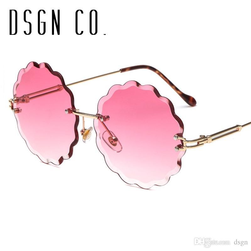 2018 Bonito Elegante Sem Aro Óculos De Sol Para As Mulheres Designer De  Marca 7 Cor Flor Moda Óculos De Sol UV400 De Dsgn,  4.57   Pt.Dhgate.Com 6534715275