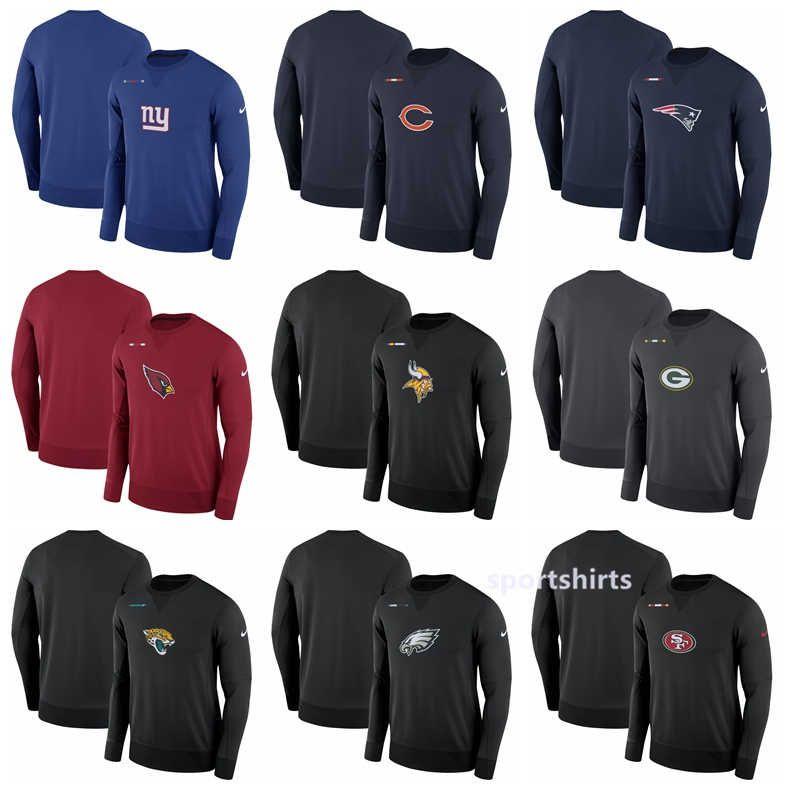 factory price 460d8 3b740 Philadelphia Eagles Packers Minnesota Vikings San Francisco 49ers Giants  Cardinals Cardinal Sideline Team Logo Performance Sweatshirt Hoodie