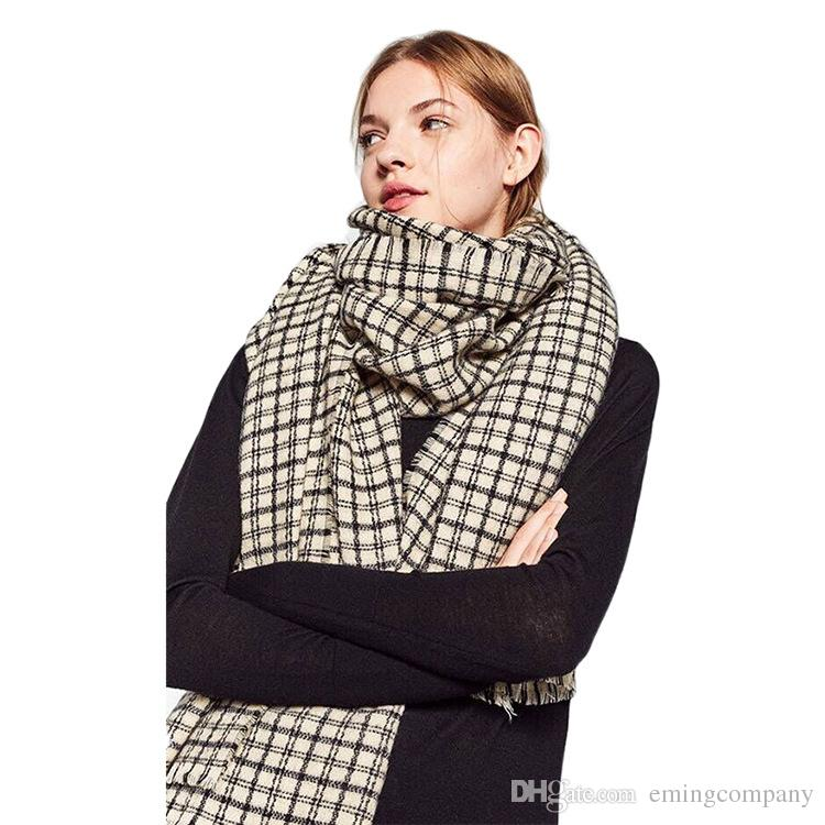 Independent Scarves For Men Scarf Winter Warm Cashmere Cape Skull Luxury Brand Gift Cashmere Plaid Pashmina For Dress Scarfs High Quality Apparel Accessories