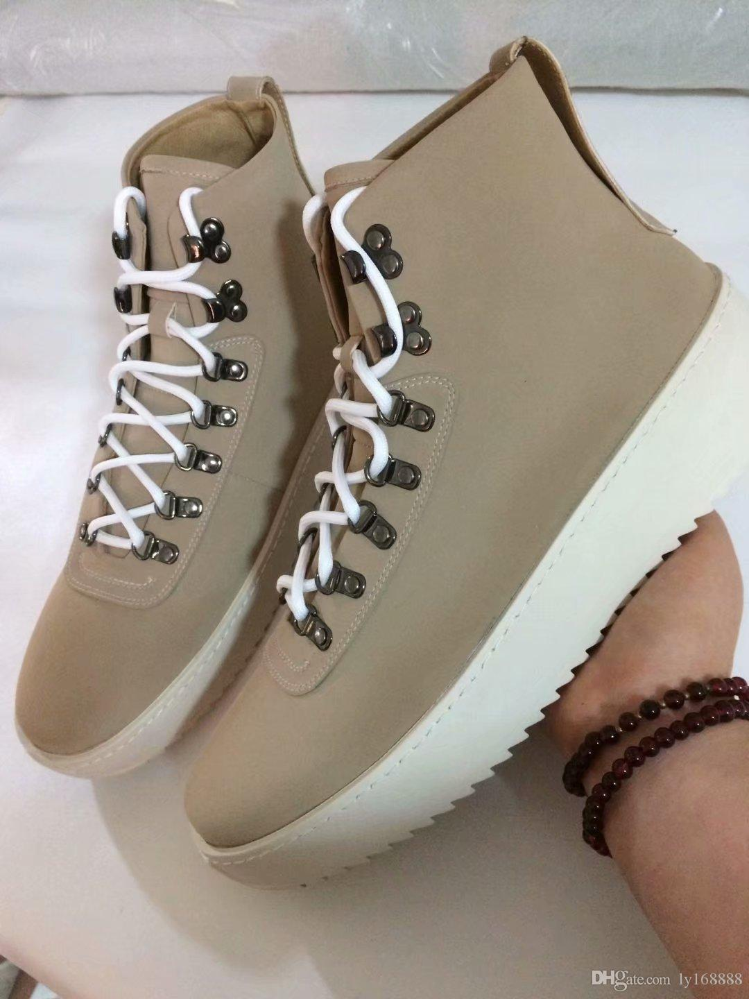 huge selection of e81e8 84ba4 2019 Fog Shoes Fear Of God Top Military Sneakers Hight Army Boots Men And  Women Fashion Shoes Martin Boots 38 46 Womens Shoes Hiking Boots From  Ly168888, ...