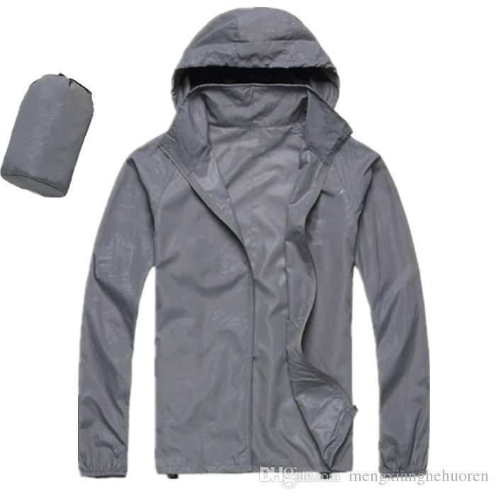 hot sale Men's clothing summer new sunscreen skin clothing windproof clothing sports casual jacket windproof sunscreen lightweight gray