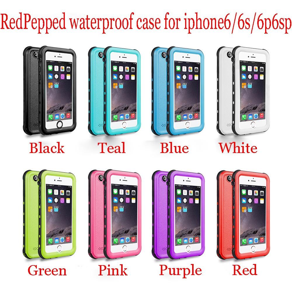 outlet store 5b63f ee615 RedPepper waterproof case for iphone 6/6g/6s IP68 Snowproof underwater  diving phone Cases for iphone6plus 6splus
