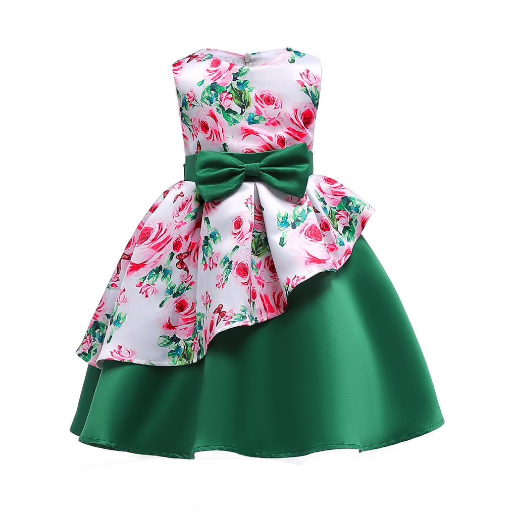 New Design Rose Flower High Quality Pretty Baby Girl Dresses ...