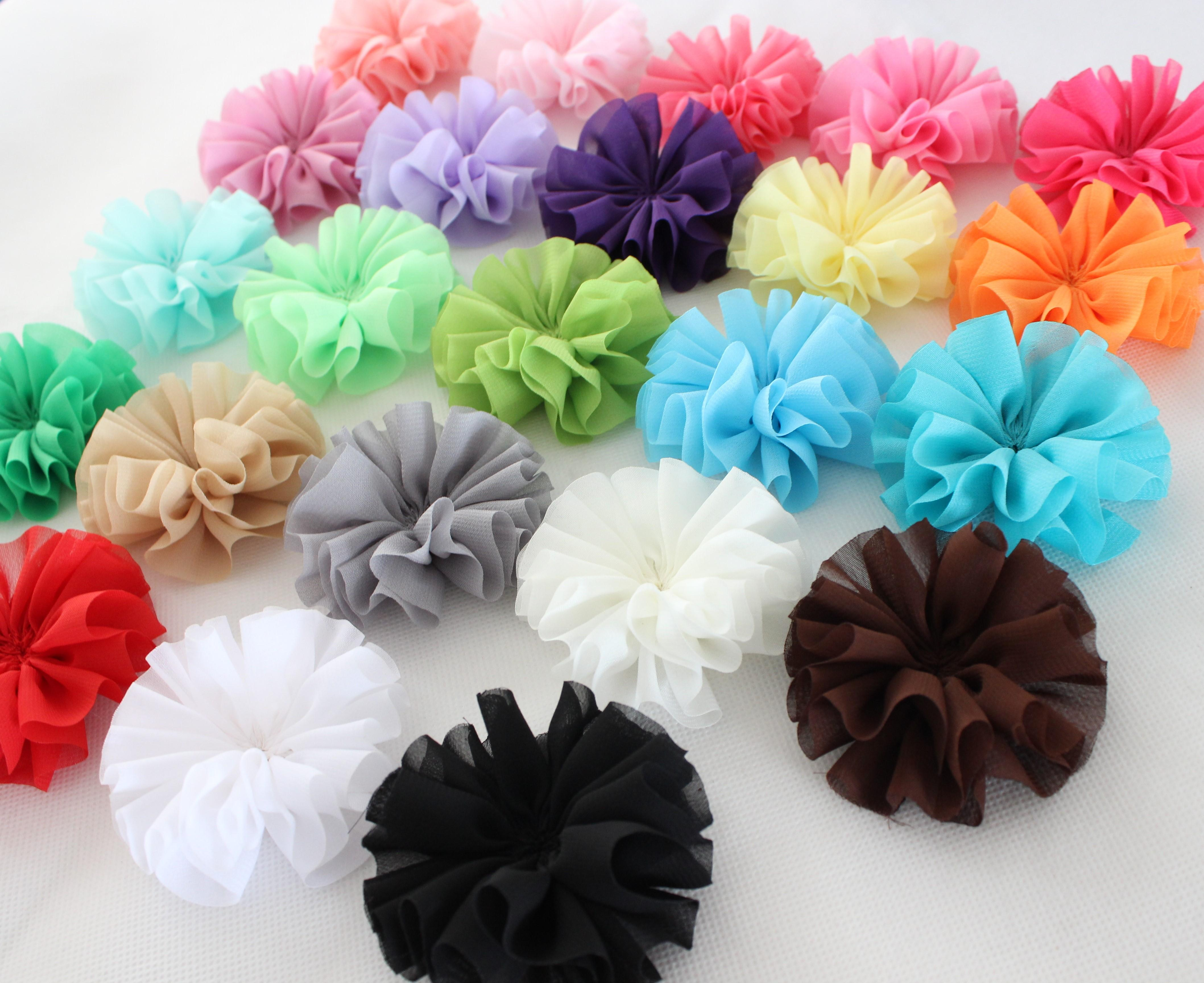 7cm Chiffon Flowers Fabric Flowers Ballerina Flowers For Headbands