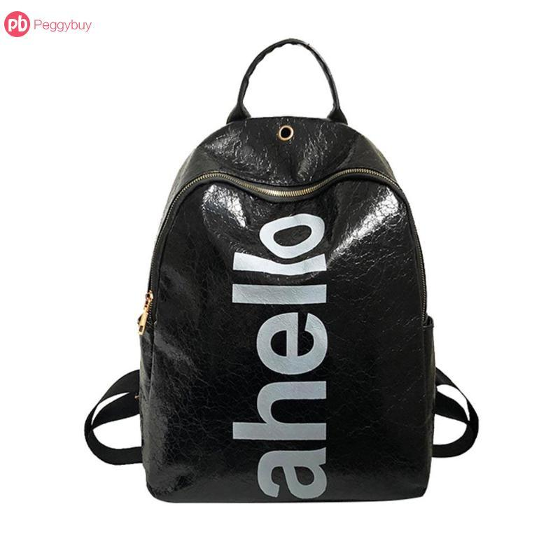 e044b4844a Fashion Women Men Preppy Letter Print Laser Shining PU Backpack School Bags  Shoulder Bag Big Capacity Mujers Best Backpacks Girls Backpacks From  Bluemoodd
