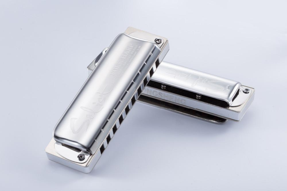 KONGSHENG Solist Folk-Harfe hochwertiger 10-Loch-Mundharmonika-Key von C / Db / D / Eb / E / F / F # / D / Ab / A / B / B / B / Low F / High G