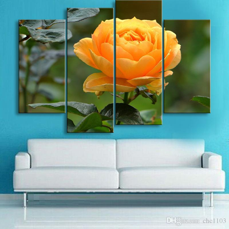 painting & calligraphy print Rose canvas poster wall art living room restaurant Bedroom Decorative paintings MGE4-011