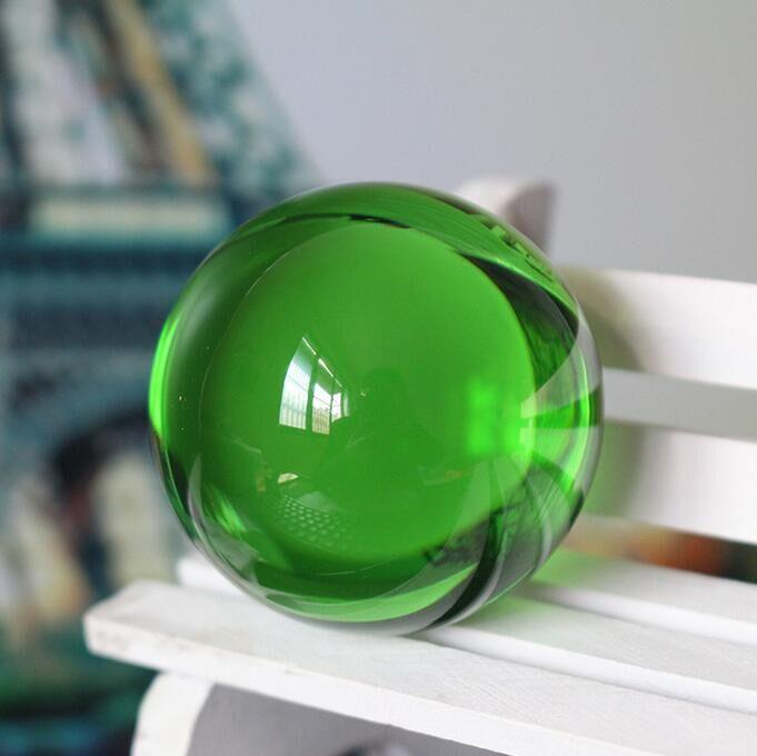 Wholesale Diameter:90mm High quality K9 All sorts of color Glass ball Quartz crystal ball feng shui cure fitness ball ward off bad luck