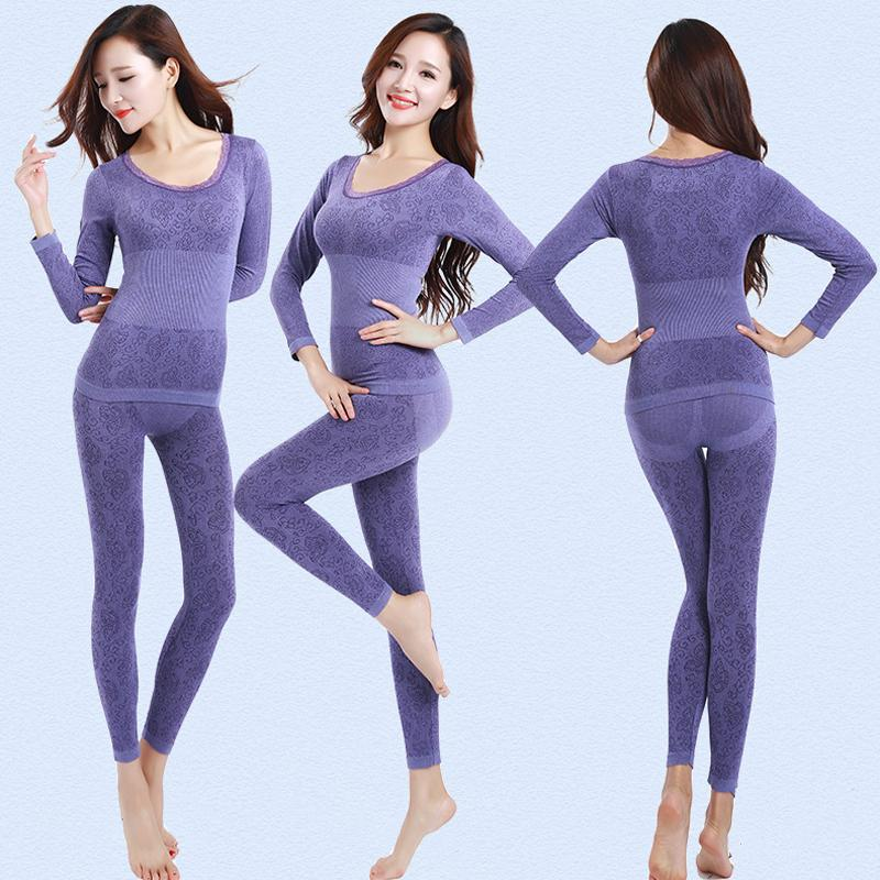 Queenral Thermal Underwear Women Long Johns For Women Winter Thermal  Underwear Suit Seamless Breathable Warm Thermal Clothing D18110502 Online  with ... 239fc8737e62