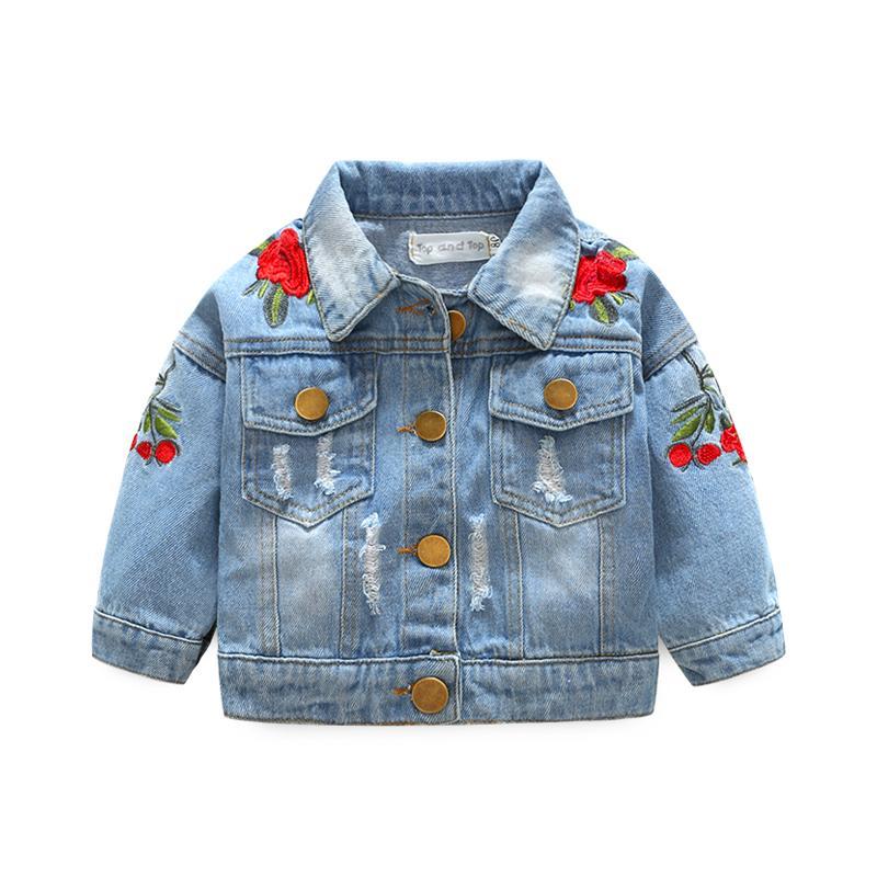 c7218d1b2c9e Großhandel Baby Mädchen Denim Mäntel Vintage Jeans Jacken Für ...