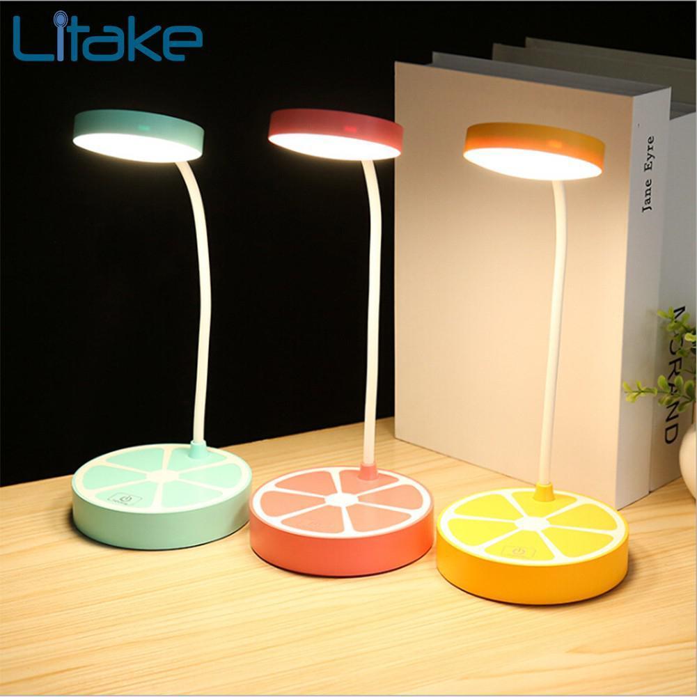 Wholesale LED Fruit Orange Shape Eye Protection Table Light Touch ...
