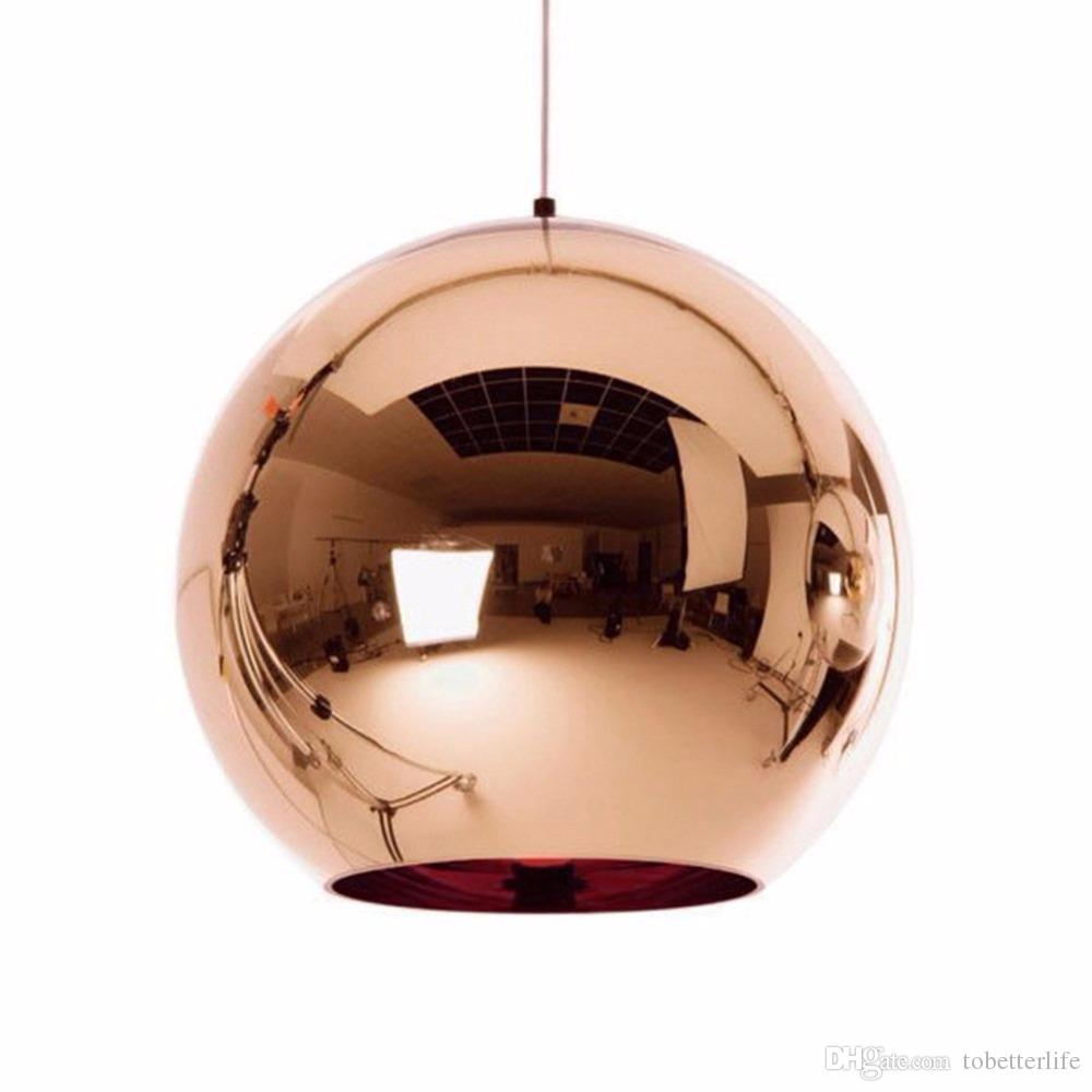 램프 글로브 전등 갓 펜던트 램프 매달려 유리 글로브 볼 펜던트 조명 구리 실버 골드 조명 라운드 천장