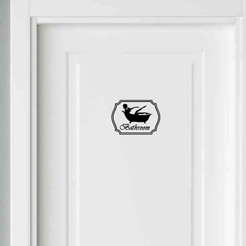 Badezimmer Aufkleber Bad Toiletten Dusche Badewanne Mädchen Frau Schwarz  Vinyl Aufkleber 2WS0035