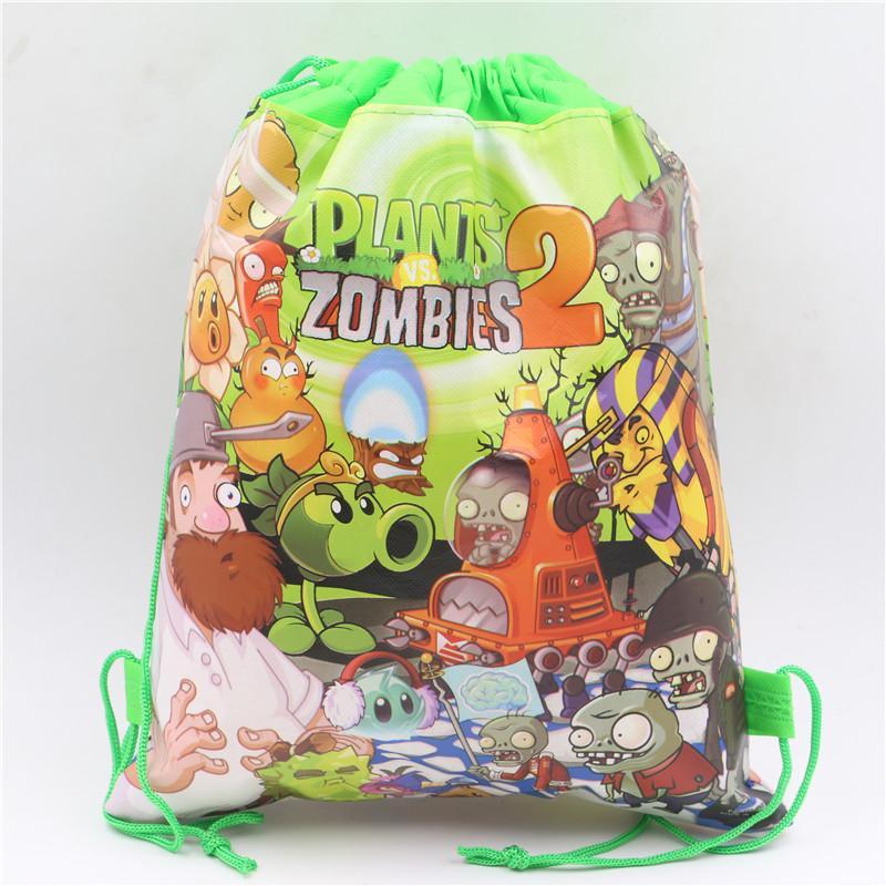Plants Vs Zombies Baby Shower Kids Favors Theme Drawstring Bags Non