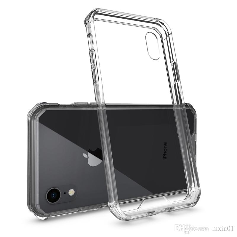 Hybrid Air Cushion Soft TPU Bumper PC Acrylic Back Armor Transparent Crystal Cover Case For X XR XS Max 5.8 6.1 6.5 Inch 8 7 6 6S Plus
