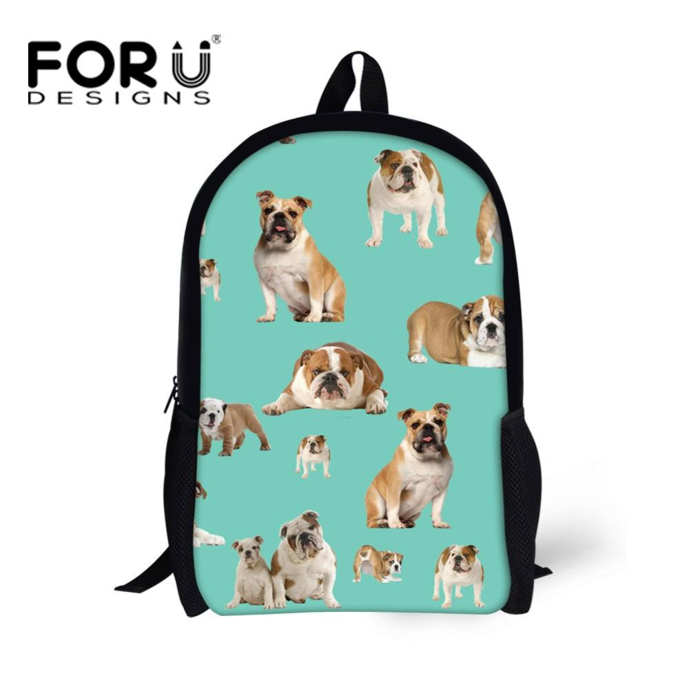 Forudesigns 3d Animals Kawaii Dog Cow Print School Backpack For Kids
