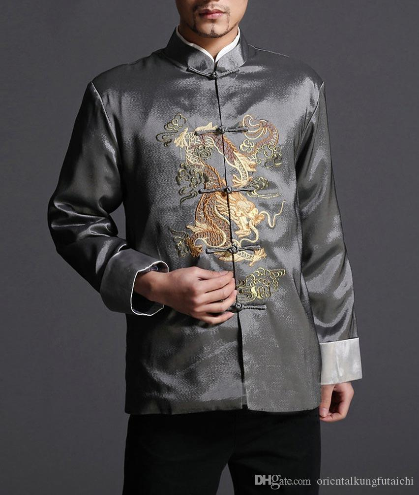 71371c13a57b5 2019 Stylish Red Kung Fu Men S Blazer Padded Jacket Dragon Shirt 100% Silk   103 From Orientalkungfutaichi