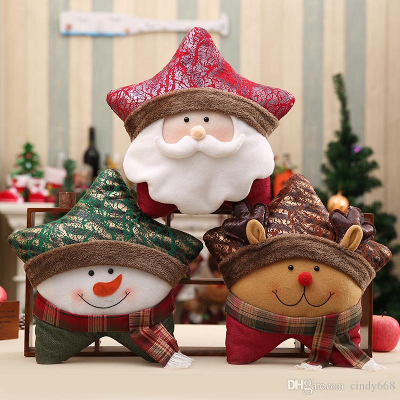 Compre Decoraciones Navidenas De Papa Noel Para Muebles Para El