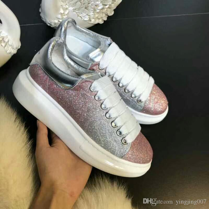 d046cd1c0 New Luxury Brand Man Woman Designer Sneaker Genuine Leather Mesh Casual  Shoes Pointed Toe Runner Shoes Trainers Gs18062805 Sneakers Online Deck  Shoes From ...