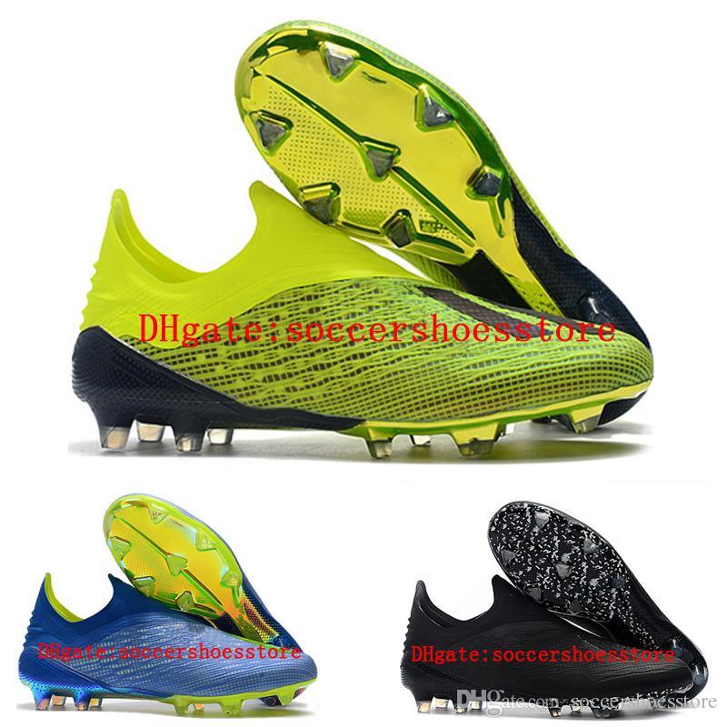 f11663e1caa 2018 Mens Soccer Cleats X 18 Fg Soccer Shoes Original Football Boots  Outdoor Scarpe Da Calcio High Quality Nemeziz Blackout Cheap Boots For Boys  Girls Black ...