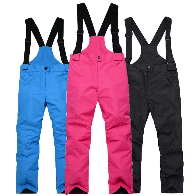 9f23c570 -30 Niños baratos Pantalones de nieve deportes al aire libre Niños Cinturón  pantalones snowboard Ropa Niño o niña Babero Pantalones de esquí ...