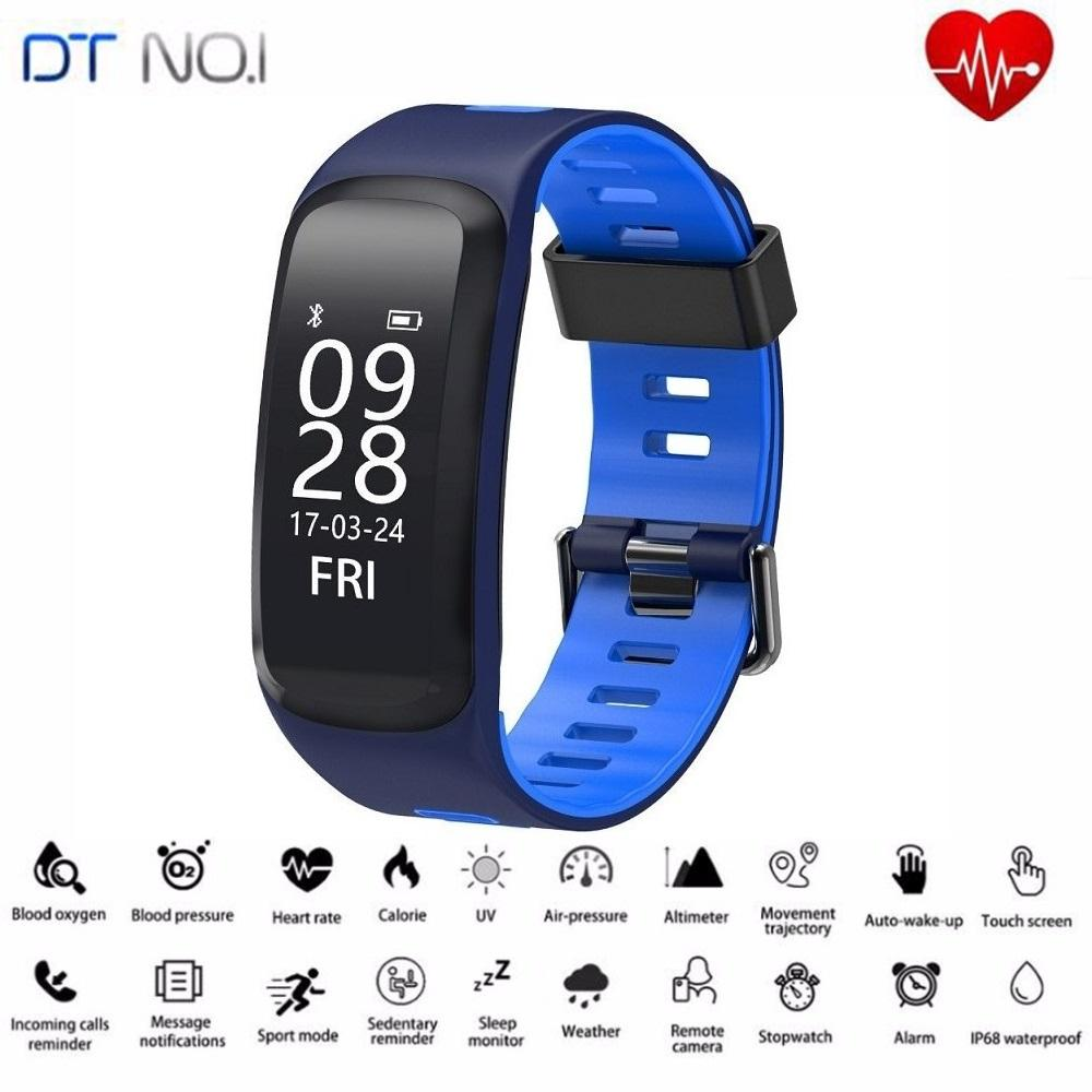 09a3660e9e3 DTNO.1 F4 Original Smart Watch Smart Bracelet Push Message Fitness Sleep  Tracker Sports Smartwatches For IOS Android Smart Watches In India Cheap  Smart ...